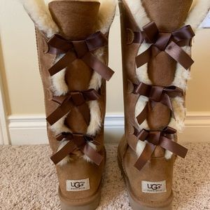 brown ugg bailey bow tall boots